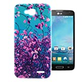 For LG Optimus L90 , ivencase Novel Beautiful Purple Style Flexible Soft TPU Rear Protective Case Cover Slim Perfect Fit for LG Optimus L90 / D415 / D405 + One