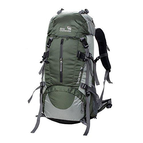 WTUS Hombre y Mujer Mochila Bolsos Al aire libre Viaje de Nylon de Excursión Impermeable y Montañismo Excursionism Senderismo bolsos gris