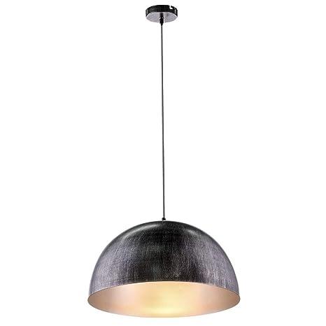 Globo Sandra - Lámpara de techo, color negro, plateado y ...