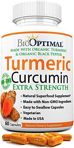 BioOptimal Turmeric Capsules Curcumin Supplement