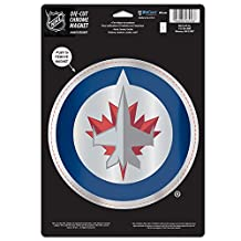 WinCraft NHL Winnipeg Jets Die Cut Logo Chrome Magnet, 6.25 X 9-Inch