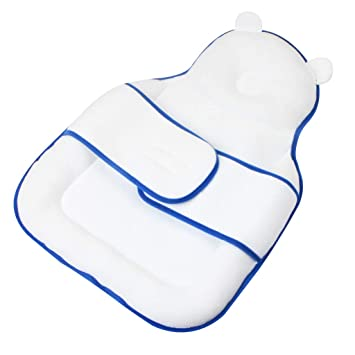 Bear-White Baby Protective Pillow Baby Sleeping Pad with Nursing Pillows Suitable for Newborn Baby and Infant Age 0-12 Months vocheer Baby Bed Mattress