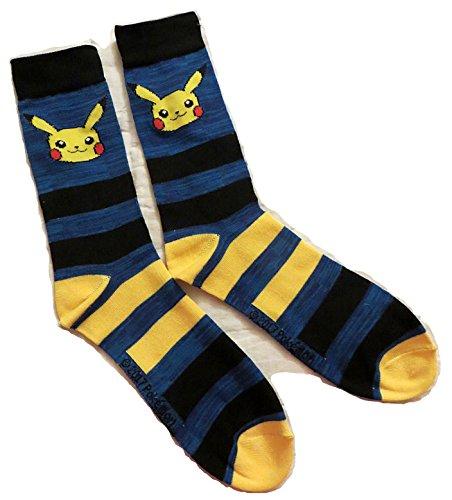 Nintendo-Pokemon-Pikachu-Mens-Crew-Socks