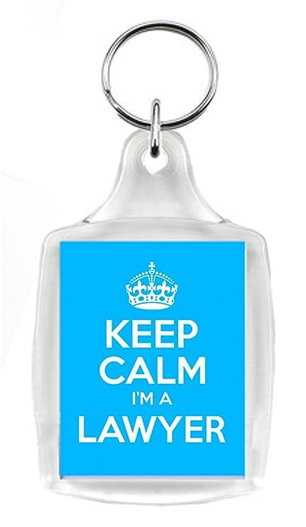 KEEP CALM soy abogada azul llavero, un regalo único para un ...