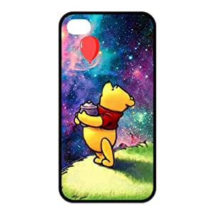 Winnie the Pooh Printing iphone 4s Cases,Hard Silicone+PC Material, Case for iPhone 4 4s,Rubber Case Cover