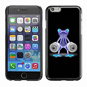 "Planetar® ( Funny Gym Bodybuilder Neon Frog ) Fundas Cover Cubre Hard Case Cover 5.5"" iPhone 6 Plus"