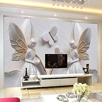 Weaeo Custom Photo Wallpaper 3D Stereo Relief Schmetterling ...