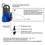 Homdox 1HP Sump Pump Submersible Water Pump
