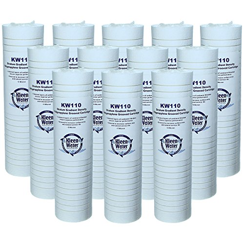 KleenWater Aqua-Pure AP110 Compatiple Filter Multi Pack, Brand KW110 Replacement Water Filter Cartridges, 5 Micron Dirt Rust and Sediment Filtration, Set of 12
