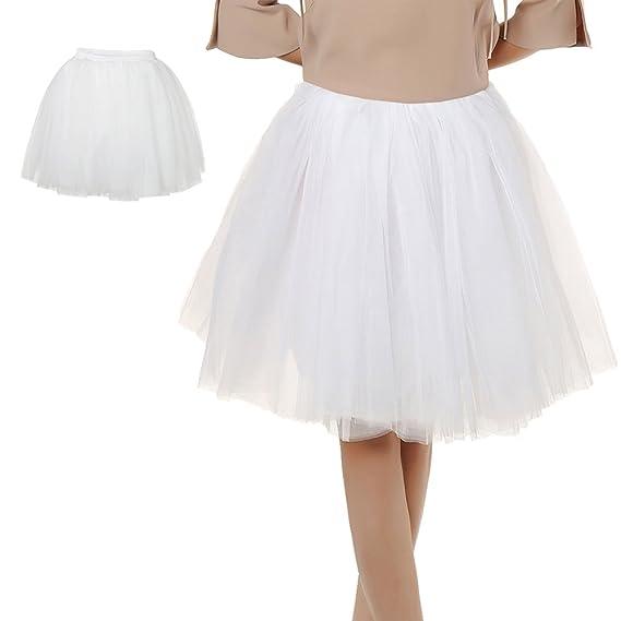 Comficent Falda de Tul de Princesa Mujer Falda 50S de la Vendimia ...