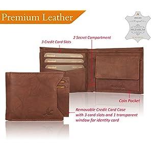 Hornbull Men's Genuine Branded Washed Brown Rigohill Premium RFID Blocking Original Leather Wallet