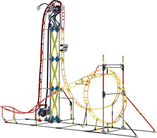 Knex Thrill Rides   Electric Inferno Roller Coaster Building Set By Knex