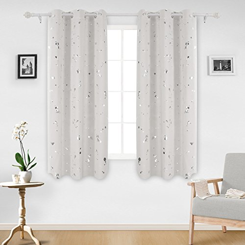 Deconovo Printed Blackout Curtains Darkening