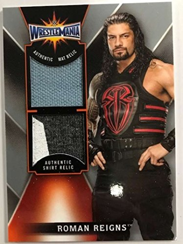 2018 Topps Road to WrestleMania Dual Relics #DR-RR Roman Reigns WrestleMania 33 NM-MT MEM from Road to WrestleMania