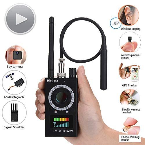 Anti Spy Detector Plus,Hitti RF Detector & Camera Finder, Bug Detector, Upgraded RF Signal Detector, Tracking Device for Wireless Audio Bug, Hidden Camera,GPS Locator (Signal Detector)