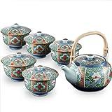 Arita yaki CtoC JAPAN Tea set(Tea pot x1pcs Cup x5pcs) Porcelain Size(cm) Tea, pot, dia.16.5x12.8x9, Cup, dia.10x8 ca051277