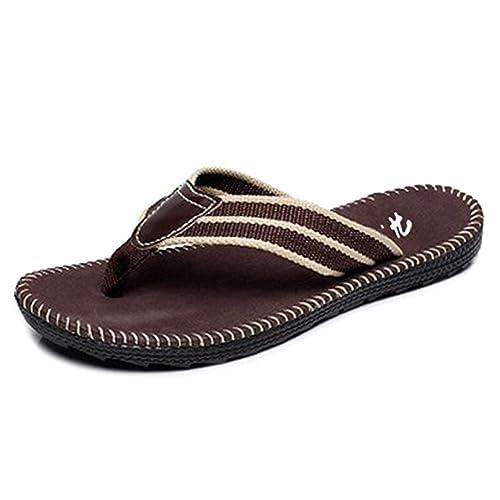 Hombres suave suela sandalia flip-flop zapatos zapatillas: Amazon.es: Zapatos y complementos