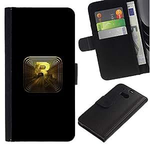 // PHONE CASE GIFT // Moda Estuche Funda de Cuero Billetera Tarjeta de crédito dinero bolsa Cubierta de proteccion Caso HTC One M8 / R R0Ckstar Gaming /
