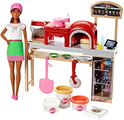 Barbie Pizza Chef Doll & Playset, Brunette