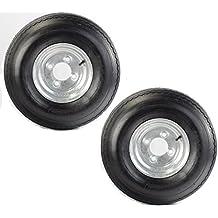 "Two Equipment Utility Trailer Tires & Rims 4.80-8 480-8 4.80X8 8"" LRB 4 L Galv"