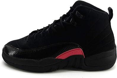 Nike Air Jordan 12 Retro Big Kids'/Men's Shoes Black/Dark Grey/Rush Pink 510815-006 (3.5 D(M) US)