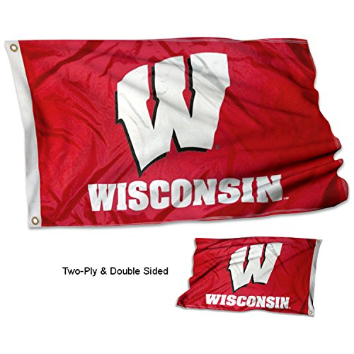 College Flags and Banners Co. University of Wisconsin Double Sided ()