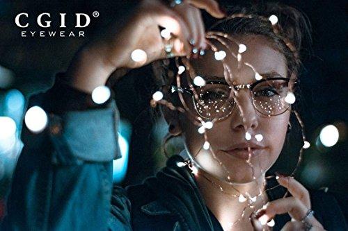 CN56 CGID à monture UV400 Lunettes nerd verres inspirées d'écaille transparents à Brown vintage dHHqCZxw