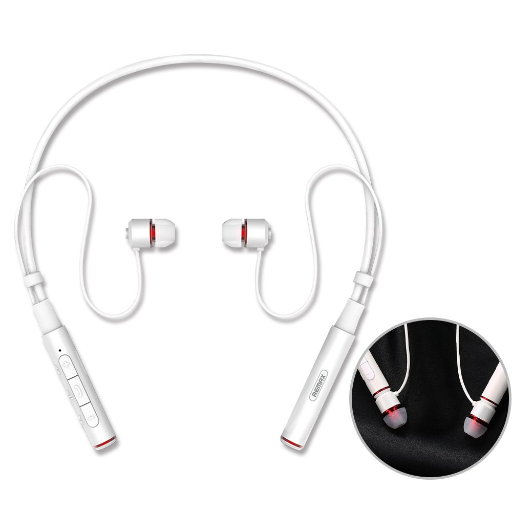 Amazon Com Remax Rb S6 Bluetooth 4 1 Wireless Stereo Neckband Headphones Earphones Headsets Noise Cancelling Earbuds With Mic For Sports Lovers White Industrial Scientific