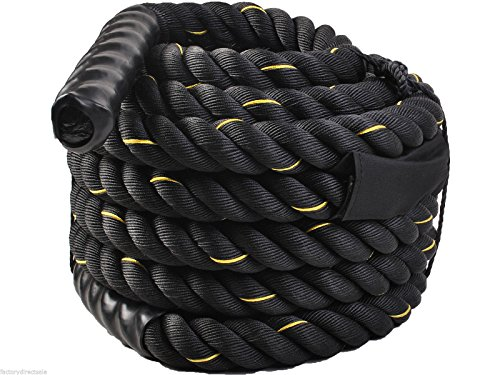 40ft Undulation Rope Training Battle Stamina Extremely Workout for Gain Lean Muscle by DTOFREE