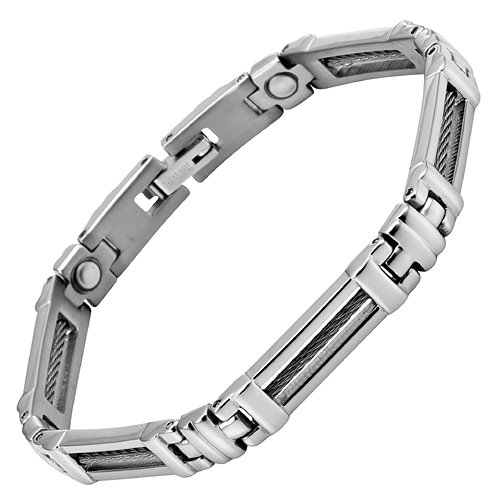 Willis Judd New Womens Titanium Magnetic Bracelet In Velvet Box with Free Link Removal Tool
