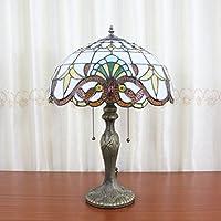 Europea Tiffany Lámpara de mesa de 16 pulgadas barroco vintage ...