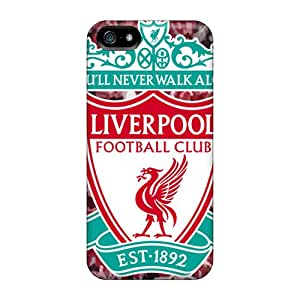 Scratch Protection Cell-phone Hard Covers For Iphone 5/5s With Unique Design Beautiful Liverpool Fc Logo Pictures Best-phone-covers