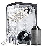 TopoGrow Hydroponic Grow Tent Kit 1200W LED Grow Light Full Spectrum+48''X48''X80'' High Reflective Mylar Grow Tent + 6'' Inline Fan Filter Ventilation Kit Indoor Plant Growing(Actual Power 240W)