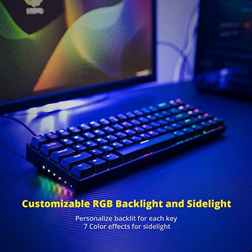 Distribuci/ón QWERTY US DREVO Calibur V2 60/% Teclado Mec/ánico para Juegos Compacto de 71 Teclas USB C Compatible con PC//Mac Negro Interruptor Cherry MX Rojo