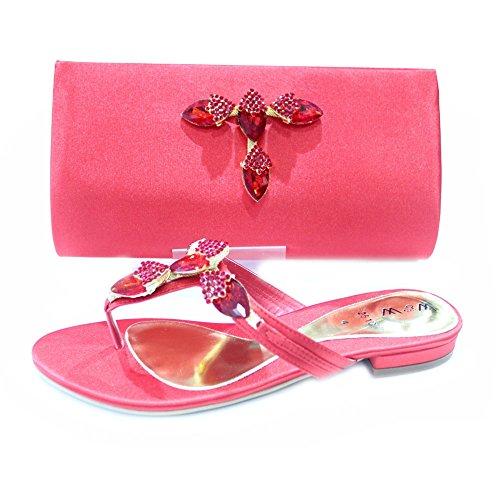 Wear & Walk UK - Cartera de mano para mujer Rojo - rojo