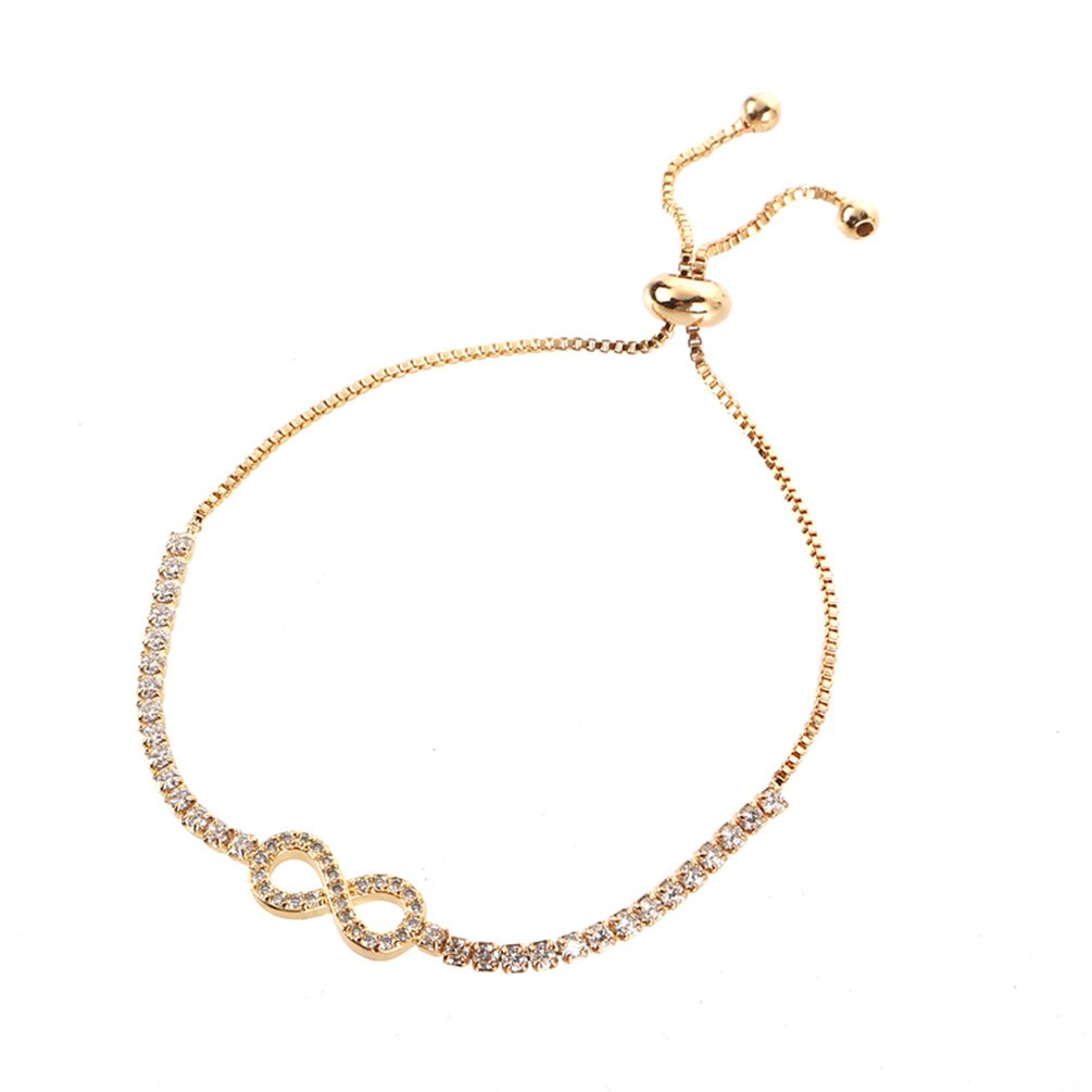 SAKAIPA Adjustable Cubic Zirconia Cute Slider Tennis Gold Plated Butterfly Bracelet Women Jewelry YIWU FENGYING E-COMMERCE CO. LTD.