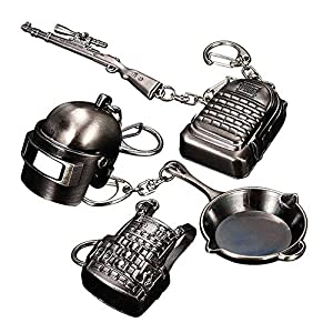 Pubg Level 3 Backpack, Frying Pan, Helmet, kar98 KeyChain