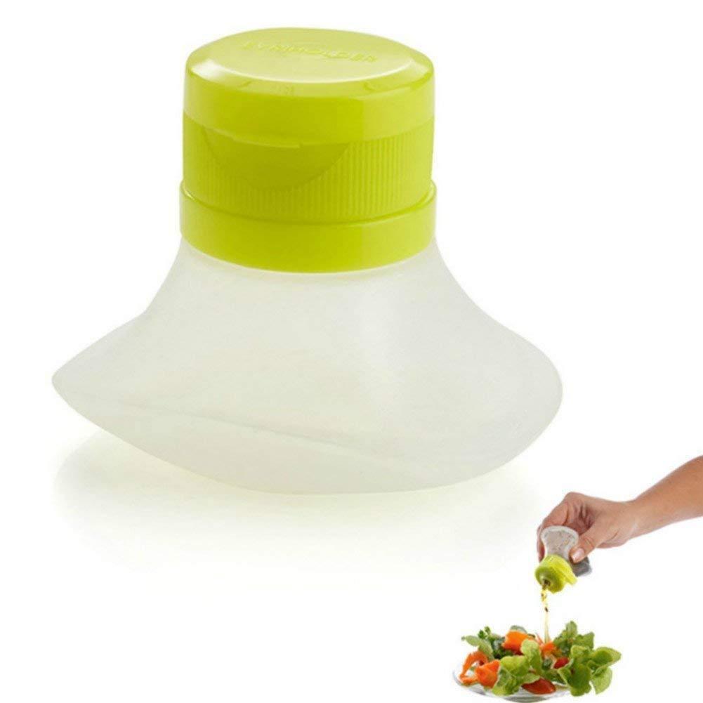 Mini SqueezeタイプSauce BottleシリコンSalad DressingコンテナSauce Jarをキッチンツールマヨネーズケチャップランチボックスアクセサリー B07FQQFVH3