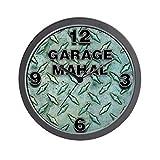 Garage Mahal Steel Plate Wall Clock