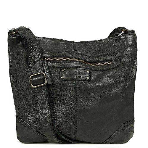 Bag Messenger Conti Gianni Gianni Shoulder Leather Conti Black Ravenna qPpZw40X
