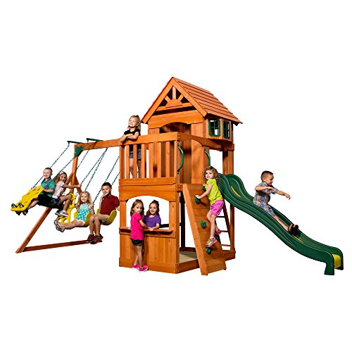 Backyard Discovery Atlantis All Cedar Wood Playset Swing Set ()