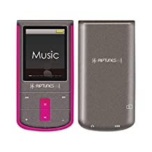 RipTunes 8GB MP3/MP4 Player 1.8-inch LCD With Micro sd Card Slot (Pink)