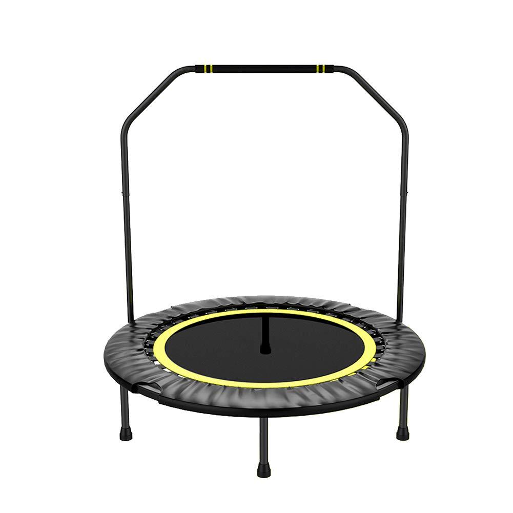 40-Zoll-Trampolin mit Handlauf, sicheres Elastikband für den Innenbereich Fitnessgeräte-Trampoline für Kinder oder Erwachsene, max