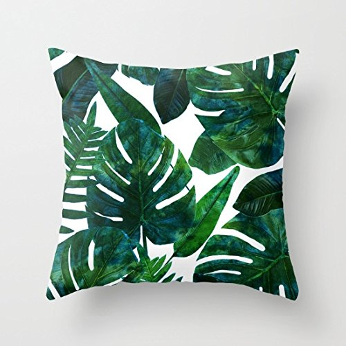 Banana Leaves Throw Pillow Covers Decorative 18 x 18 Home De