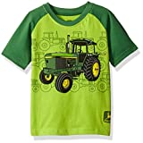 John Deere Baby Toddler Boys' Graphic Tee, Lime Green/Green, 4T