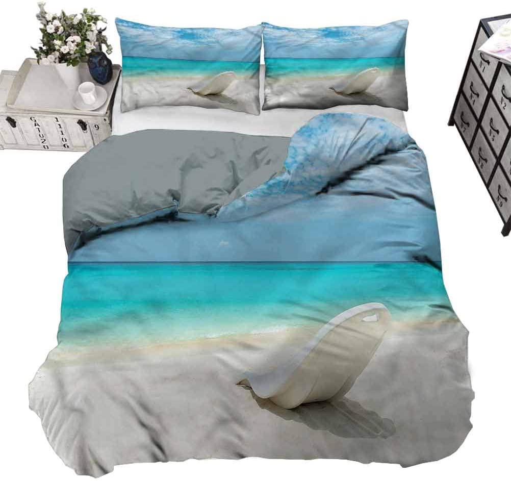 Amazon Com Painting Home Duvet Cover Set Seaside Maldives Beach Sunny Day Beautiful Duvet Cover Gives A Happy Welcoming Sense To The Room Twin 70 X 90 Inch Home Kitchen