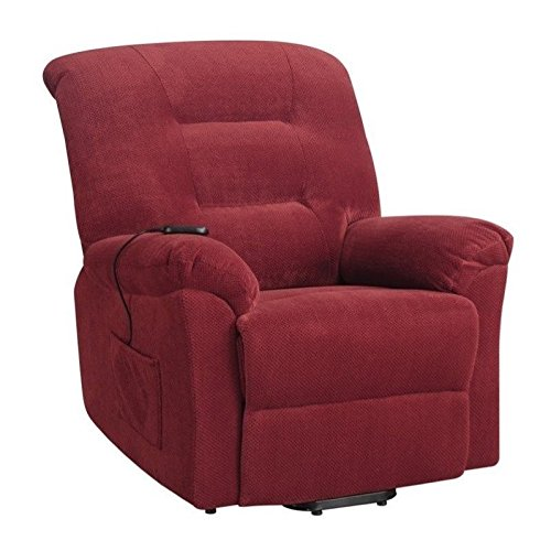 Coaster Home Furnishings 600400 Power Lift Recliner, Brick Red
