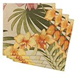 Tommy Bahama African Orchid, Pack of 4 Napkins, Linen