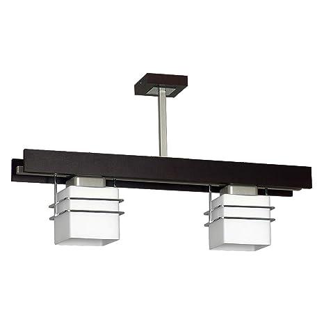 Plafón en VENGE Bauhaus blanco diseño E27 hasta 60 W 230 V de cristal & Metal Cocina Comedor lámpara Leuchten iluminación interior, 2 luces 230.00 volts: ...