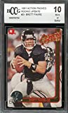 #9: 1991 action packed rookie update #21 BRETT FAVRE packers rookie card BGS BCCG 10 Graded Card